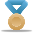 Metal bronze blue