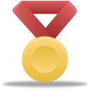 Metal-gold-red
